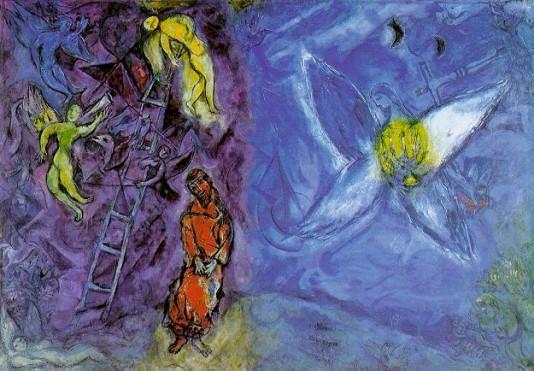 Chagall_Jákobův sen